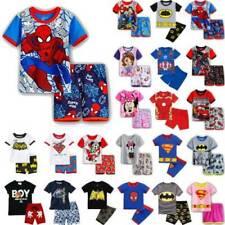 Kinder Jungen Mädchen Sommer Kurzarm Schlafanzug Pyjama Nachtwäsche Outfits Set