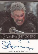 """Game of Thrones Season 2 - Simon Armstrong """"Qhorin Halfhand"""" Autograph Card"""