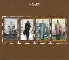 Guyana 2013 MNH Mao Tse-Tung 120th Birthday 4v M/S Zedong China Leader Stamps
