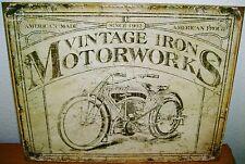 Vintage Replica Tin Metal Sign Motorworks 1902 indian hd motorcycle engine 1842