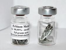 Erbium Metall destilliert 99,99% - 5g originalversiegelt inkl. Analysezertifikat