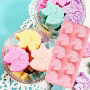 Silicone Unicorn Cake Mould Decorating Baking Sweet Mold Wax Melt Soap Jelly HP
