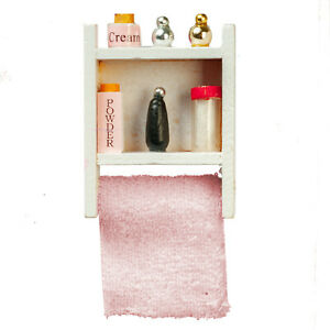 Dolls House  Accessories      Bathroom Cabinet  Filled