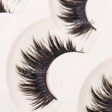 Soft 5 Pairs Makeup Long Black Nautral Handmade Thick False Eyelashes Eye Lashes