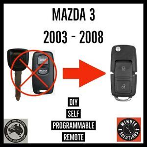 FITS MAZDA 3 REMOTE TRANSPONDER CHIP FLIP KEY 2003 2004 2005 2006 2007 2008