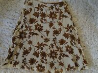 Tommy Bahama 100% Silk Floral Skirt Browns Size Small