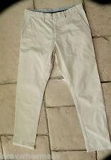 bonito pantalones informal algodón beige hombre TOMMY HILFIGER talla W32 (42)