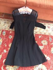French Connection Black Lace Inset Lace Size 12 Excellent Condition