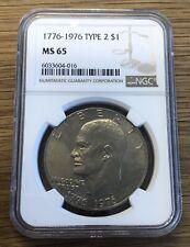 1776-1976 Bicentennial Eisenhower Dollar Type 2 NGC MS65