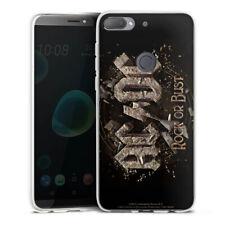 HTC Desire 12 Plus Silikon Hülle Case Handyhülle - ACDC Rock or Bust