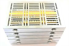 GERMAN 5 DENTAL SURGICAL AUTOCLAVE STERILIZATION CASSETTES FOR 20 INST-YELLOW