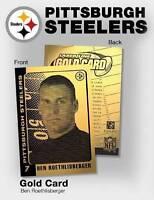 BEN ROETHLISBERGER PITTSBURGH STEELERS LASER LINE 2004 23KT GOLD ROOKIE CARD!