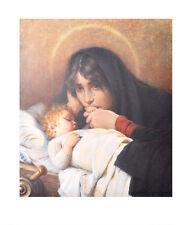 Hermann Kaulbach Kunstdruck Poster Bild hochwertiger Lichtdruck Madonna 84x70 cm