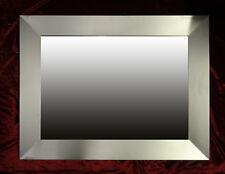 Espejo de Marco Pared Plata Madera 96x73 cm Kristall-Form Dekorspiegel