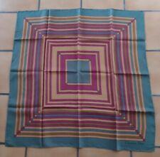 Vintage 70, T. joli foulard Christian Dior twill soie silk scarf