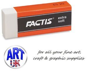 Factis Artists Latex Extra Soft Graphite & Coloured Pencil Eraser/Rubber - ES20