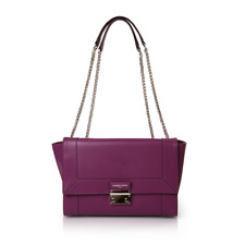 SALE was $249 Clarence Frank- Sarah Two Chain- Purple - Womans Leather Bag