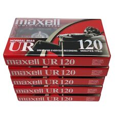 Maxell UR 120 Normal Bias Audio Cassette Tapes IEC Type 1 New Sealed Lot Of 5