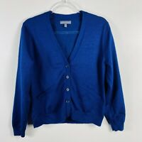 American Airlines Size Large Petite Crew Attendant Uniform Cardigan Sweater Blue