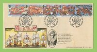 G.B. 1988 Spanish Armada set on Bradbury official First Day Cover