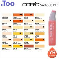 "Copic Various Ink ""YR(Yellow Red) Color Series""Refill for Too Sketch and Ciao"