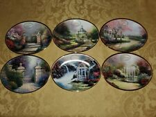 Thomas Kinkade's Daily Gifts From God's Garden Plate Set Of 6 Oval Decor Wall