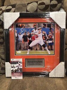 Baker Mayfield Signed 8x10 Framed Photo Cleveland Browns NFL STAR w/ JSA COA