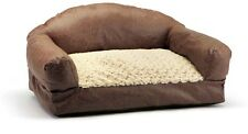 Small Dog Sofa Bed 29 in. Brown Cozy Home Pet Couch Furniture Washable Cover New