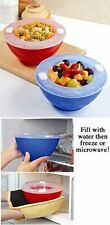 Hot 'N Cold Bowls ~ Set of 2 ~ Keep Food Warm/Cool For Dinners, Parties, Buffets