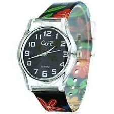 Core Girls Designer Bluey Dial With Blue, Red & Yellow Flower plastic  watch