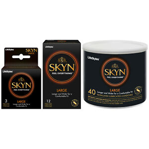 Lifestyles SKYN Large Longer & Wider Non-Latex Condoms - Choose Quantity