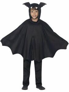 Childs Halloween Fancy Dress Bat Cape Black Kids Childrens Cloak by Smiffys