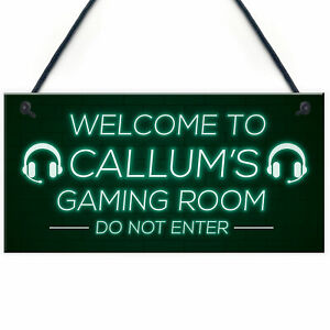 Gaming Games Room Personalised Sign Gift For Brother Son Gamer Gifts For Him