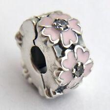 Authentic Pandora Pink Primrose Clip Charm, 791823EN68, Sterling w/ CZ, New
