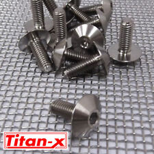Titanium car panel / motorcycle fairing bolts M6x16