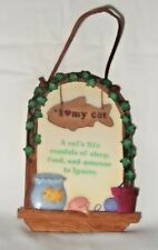 WALL PLAQUE-ENESCO-CERAMIC- I LOVE MY CAT--FREE SHIP-NEW WITHOUT TAGS