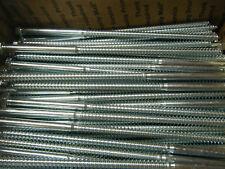 "Lot of 25 Hex Head 3/8 x 10"" Lag Bolts Zinc Plate Cr+3 Compliant HD Stelfast Inc"