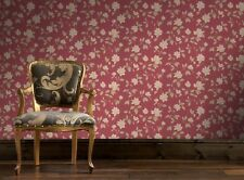 Boutique Amy Textured Floral Red Wallpaper