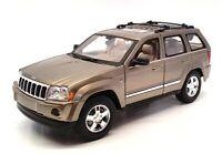 Maisto 1/18 Scale Model Car 4321E - 2005 Jeep Grand Cherokee - Metallic Khaki