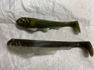 """Osprey Lure Co Line Through Swimbaits 7"""" And 9"""" Lot Of 2 Thru"""