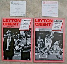 More details for 2 leyton orient 1989 programmes - v scarborough & halifax town with tickets