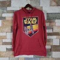 STAR WARS Men's Sz M  Star Wars Logo Hooded Top Long Sleeve