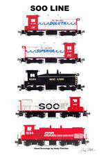 "Soo Line Switch Engines 11""x17"" Railroad Poster by Andy Fletcher signed"