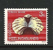 1969 Cocos Keeling -  3c Reef Clam - Marine & Bird Life (1) MNH