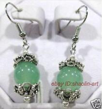cadeaux de Noël,12 mm ,vert jade ,dangle ,boucle d'oreille