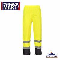 Hi Vis Rain Pants Work Waterproof Reflective High Visibility Safety ANSI, H444