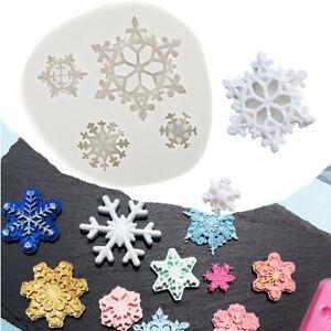Snowflake Silicone Fondant Mold Cake Decorating Border Baking Icing Lace Mould