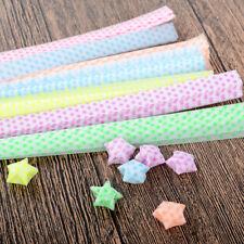 3Pack Origami Lucky Wish Star Paper Strips Luminous Folding Ribbons Plastic CN