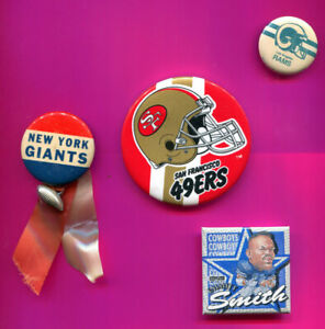 NFL FOOTBALL BUTTONS & PINS PICK 1 -2- 3 OR ALL YOU PICK ADD TO CART