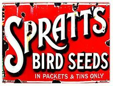 Reproduction Spratt's Bird Seeds Reproduction Country Advertisement Sign